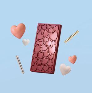 Schokoladenform LOVE für 3 wunderschöne Tafeln Schokolade mit Herz