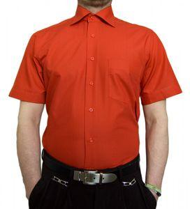 Designer Herren Kurz Arm Hemd Bügelfrei klassischer Kragen Herrenhemd Kentkragen viele Farben Kurzarm, Größe klassische Hemden:48 / XXXL, Farbe Klassische Hemden:Rosa