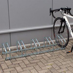 Fahrradständer Radständer 5 Fahrräder 1305x320x265mm Metall verzinkt Fahrrad