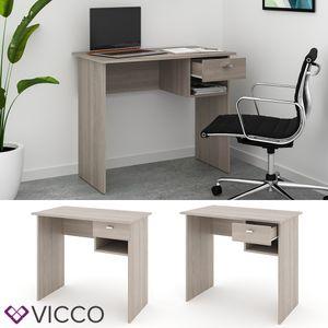 VICCO Schreibtisch COLIN Sonoma Eiche Arbeitstisch Bürotisch Regal PC Tisch