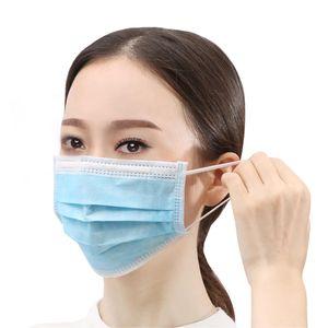 ZIZM® 100x Mundschutz 3 lagig , latexfrei Atemschutz Einweg Maske Hygieneschutz