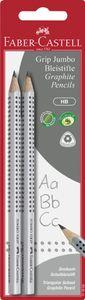 FABER-CASTELL Bleistift Jumbo GRIP Härtegrad: HB 2er Blisterkarte