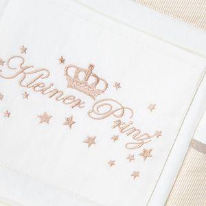 Babybetttasche von Kleiner Prinz oder Kleine Prinzessin in Blau, Rosa oder Cream, Farbe:cream, Motiv:Kleiner Prinz