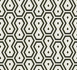 Architects Paper Retrotapete Jungle Chic geometrische Tapete Vliestapete gold schwarz weiß 10,05 m x 0,53 m