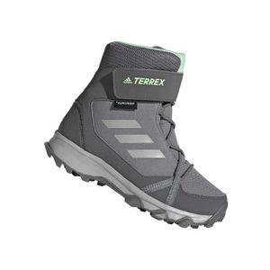 adidas Kinder Winter Outdoor Schuh TERREX SNOW CF CP CW K grau grün, Größe:38