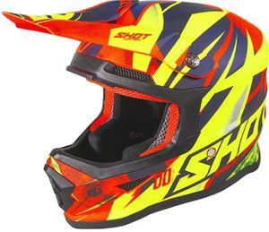 Shot Furious Ventury Kinder Motocross Helm Farbe: Orange/Blau, Grösse: S (49/50)