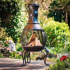 Gartenofen San Louis 90cm mit Funkenschutz und Schürhaken
