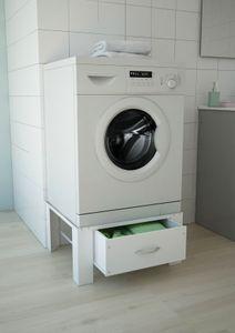 respekta Waschmaschinenerhöhung Waschmaschinen Untergestell Sockel mit Schublade