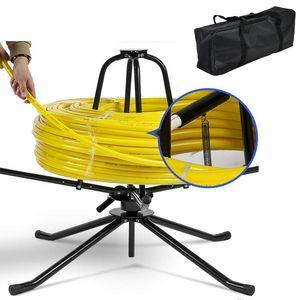 XIIW® 600m Abroller Rohrhaspel Fußbodenheizungsrohr Aufwickler Kabel Aufroller Abrollgerät Abroller 4-Bein mit Tasche