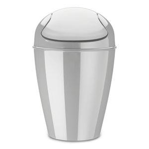 Koziol Del M Schwingdeckeleimer, Papierkorb, Abfalleimer, Abfallbehälter, Mülleimer, Kunststoff, Soft Grey, 12 L, 5775663
