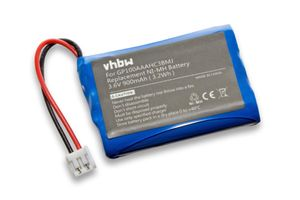 vhbw NiMH Akku 900mAh (3.6V) kompatibel mit Babyphone, Babyfone Audioline Baby Care G10221GC001474, V100 Ersatz für GP100AAAHC3BMJ.
