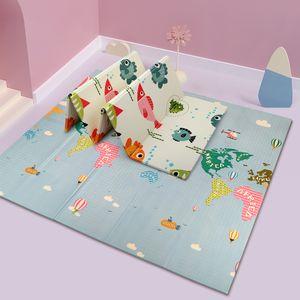 Spielmatte Baby Krabbelmatte Babymatte faltbare bodenmatte spielteppich 200 x 180 cm spieldecke Doppelseiten spielbar krabbeldecke asserdicht  babymatte