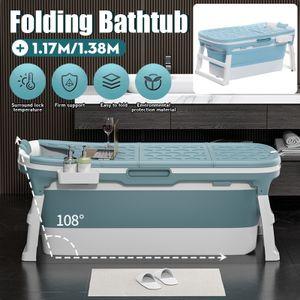 1.38m Badewanne Bad Faße Badewanne Kapazität für Erwachsene Kinder Tragbar DE