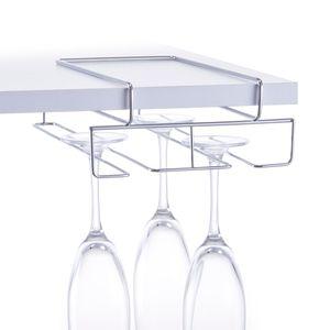 Zeller Gläserhalter, Metall verchromt 18,5x28x7,5