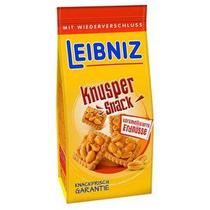 Bahlsen Leibniz Knusper Snack karamellisierte Erdnüsse 175g 5er Pack
