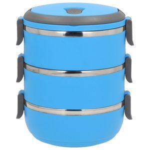THERMOBEHÄLTER 3 Etagen Kunststoff Thermo Isolierbehälter Speisebehälter 2,1 L