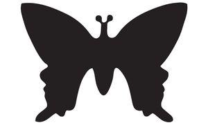 HEYDA Motiv Locher Schmetterling klein Farbe: rot