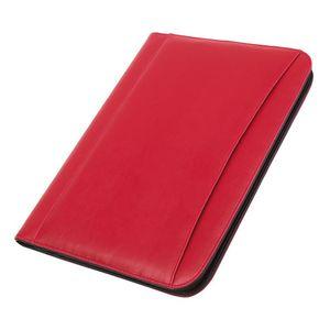 Konferenzmappe A4 rot Schreibmappe GENTLE mit Schreibblock und Rechner