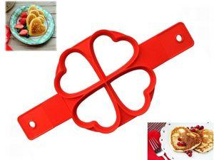 GKA Silikon Pancake Maker Herz oder Spiegeleierformer Pfannkuchen Omelett Backform