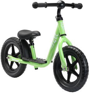 LÖWENRAD Kinder Laufrad ab 3 - 4 Jahre | 12 Zoll Lauflernrad mit Trittbrett |  Grün
