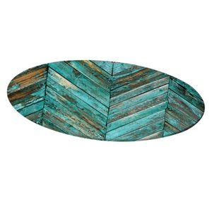 Tischtuch abwaschbar rund 120cm Tischdecke Tischläufer Gartentischdecke Tischdekoration D 绿 绿 条纹
