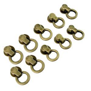 10 Stück Metallnieten mit O-Ring Farbe Kupfer
