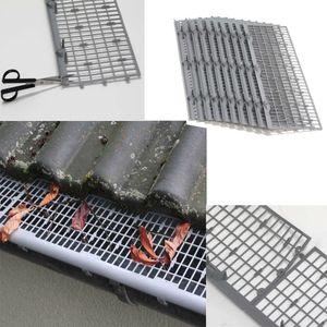 Dachrinnenschutz 12 Meter aus Kunststoff - Profi Laubschutz zuverlässig gegen Verstopfen von Regenrinnen -  Laubfangstreifen mit einfacher CLIP Montage & Verbindung