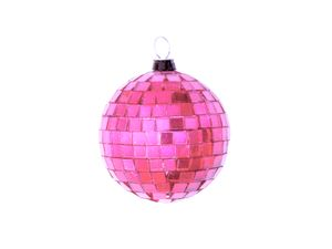 Spiegelkugel 5cm - pink - Diskokugel Echtglas - 5x5mm Spiegel - DEKO Serie