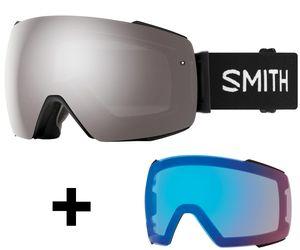 Smith I/O MAG Skibrille inkl. ChromaPop Wechselscheibe Snowboardbrille, Farbe:black/ChromaPop sun platinum + ChromaPop storm rose flash