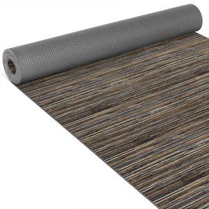 Küchenläufer Teppich Linien Braun Breite 65cm Bodenteppich 300cm