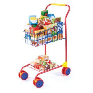 Einkaufswagen bunt mit Inhalt