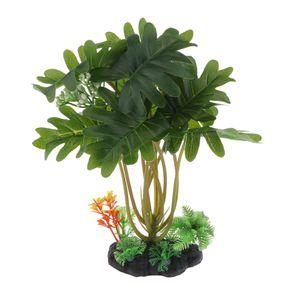 Künstliche Pflanzen Wasserpflanzen Kunstpflanzen für Aquarium Fisch Tank, dunkelgrün
