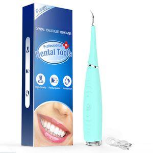 Elektrisch Zahnsteinentferner Zahnstein Ultraschall Whitening Zahnreiniger BLAU