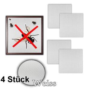 4 Stück Fenster Fliegengitter   Fliegennetz 130 x 150 cm Insektenschutz (Weiß)