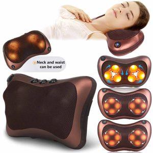 6kopf Shiatsu Rücken Schulter Nacken Massagekissen Massagegerät Wärmefunktion Massagegeräte