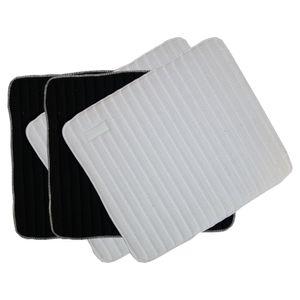 Kentucky Horsewear Bandagenunterlagen für die Arbeit 4er-Set 45 x 30 cm - Schwarz/Weiß