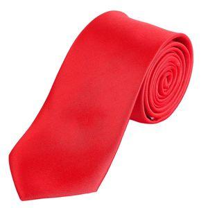 DonDon Herren Krawatte 7 cm klassische Business Krawatte - Rot
