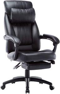 Bürostuhl Chefsessel Schreibtischstuhl Drehstuhl Computerstuhl mit Kopfstütze und Fußstützen IntimaTe WM Heart