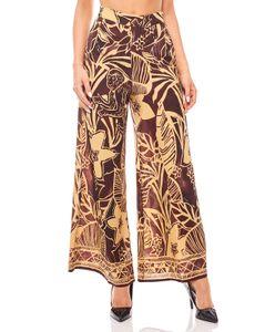 Aniston Palazzohose Stoffhose Safari-Look Damen Bordeaux, Größe:36