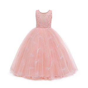 Mädchen Partykleid Baby Blume Kinder Brautjungfer Rose Prom Brautkleider Prinzessin,Farbe:Pink,Größe:11-12 Jahre