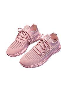 Damen Pure Farbe Atmungsaktive Mode Freizeitschuhe Leichte Sneaker,Farbe: Pink,Größe:40