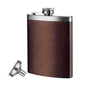 Vacu Vin Flachmann mit Trichter, 210 ml. braun