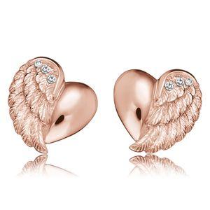 Engelsrufer ERE-LILHEARTWING-STR Damen-Ohrringe Herzflügel Rosé