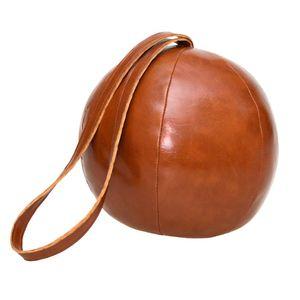 Esschert Design Türstopper Lederball mit Schlinge, 1,2 kg, aus Kunststoff/Sand/Polyesterfüllwatte, Ø 16,3 x 14,8 cm