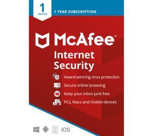 Antivirus Software - McAfee Internet Security 2021 | Download 1 PC 1 Jahr