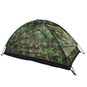Outdoor Camouflage UV-Schutz Wasserdichtes Ein-Personen-Zelt für Camping Wandern