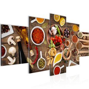 Küche - Gewürze BILD :200x100 cm − FOTOGRAFIE AUF VLIES LEINWANDBILD XXL DEKORATION WANDBILDER MODERN KUNSTDRUCK MEHRTEILIG 003151a