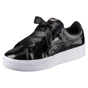 PUMA WOMEN´SSHOES Vikky Platform Ribbon Damen Sneaker Schwarz Schuhe, Größe:39