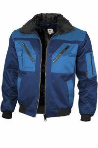Qualitex Pilotenjacke zweifarbig Unisex 10004 marine/royal XL Arbeitsjacke, Bundjacke Handwerker, Heimwerker, Outdoor, Strassenarbeiter