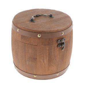 Kaffeedose Retro Holz Vorratsdose Frischhaltedose Kaffeebehälter Aromadose Größe S